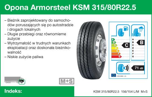 Opona Armorsteel KSM 315/80R22.5