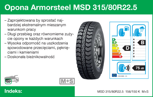 Opona Armorsteel MSD 315/80R22.5