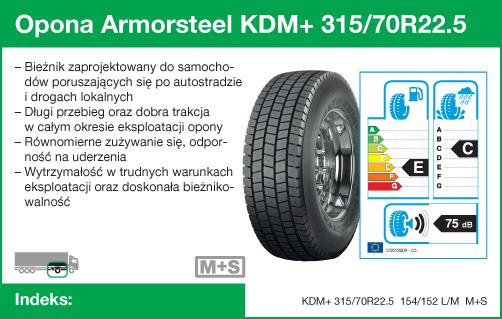 Opona Armorsteel KDM+ 315/70R22.5