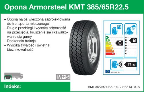 Opona Armorsteel KMT 385/65R22.5