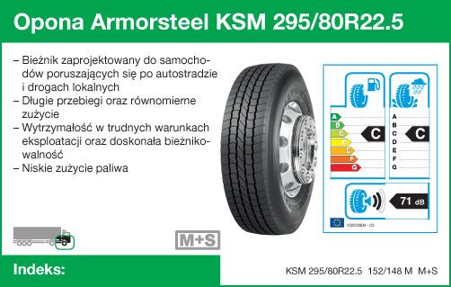 Opona Armorsteel KSM 295/80R22.5