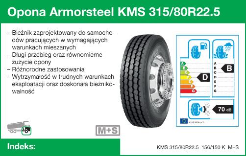 Opona Armorsteel KMS 315/80R22.5