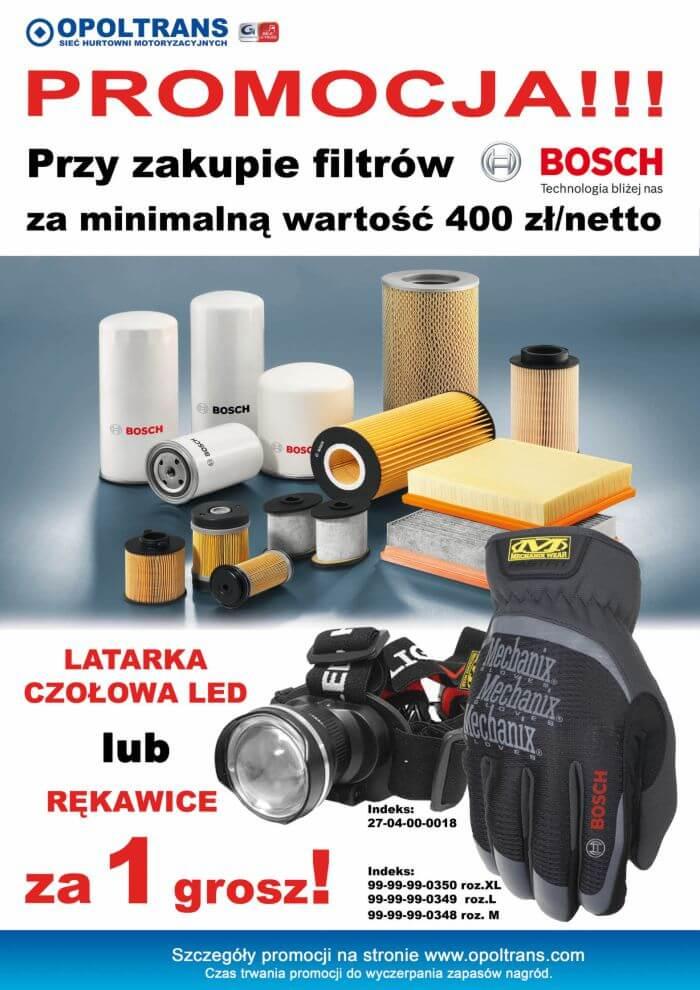 Plakat promocji na filtry Bosch