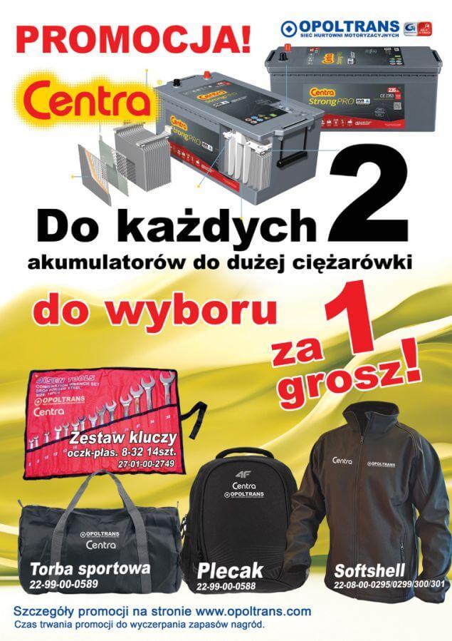 Plakat z promocją akumulatorów Centra