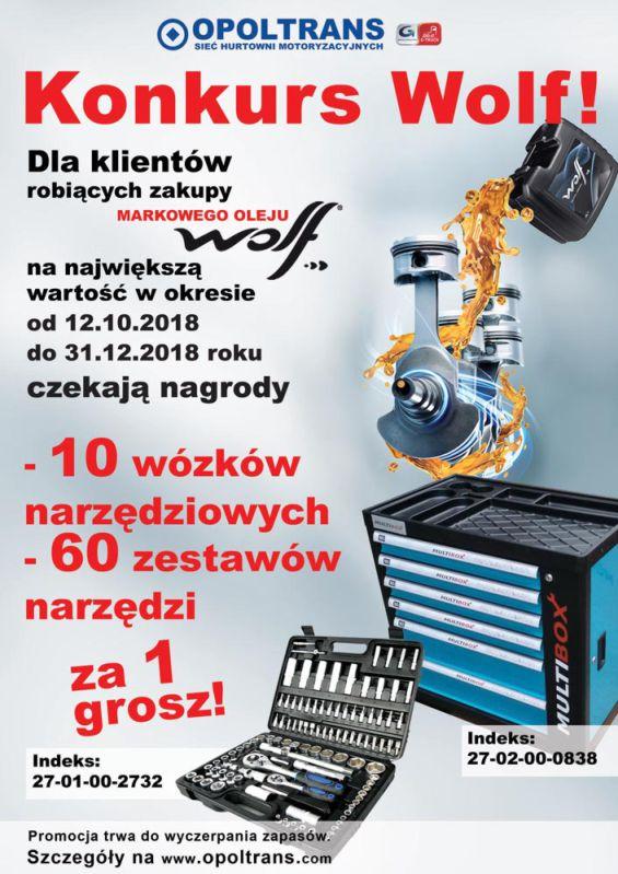 Konkurs na zakupy markowego oleju WOLF