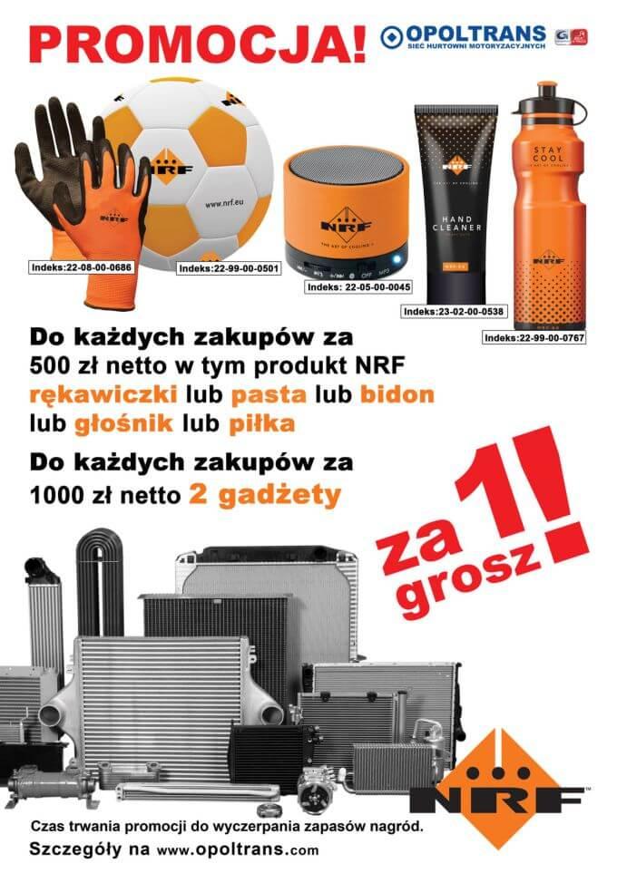Plakat z promocją na produkty NRF