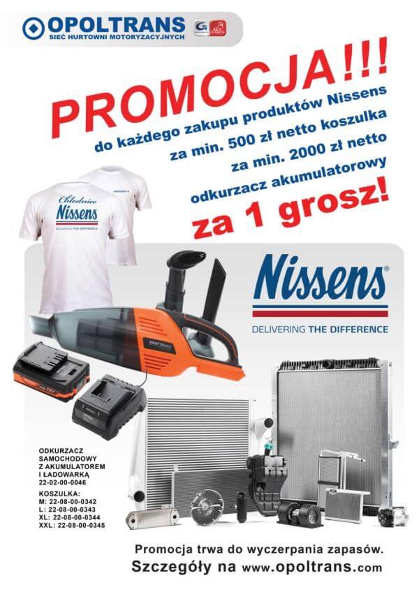 Plakat z promocją na produkty Nissens