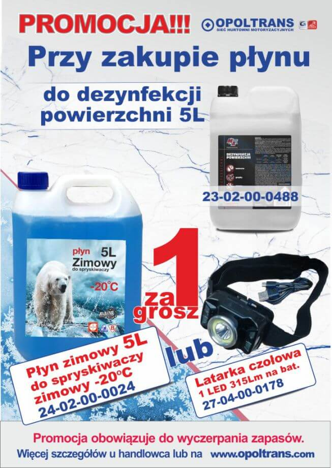 Plakat z promocją płynu do dezynfekcji powierzchni