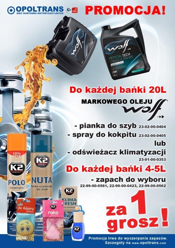 Promocja WOLF - gratis chemia samochodowa