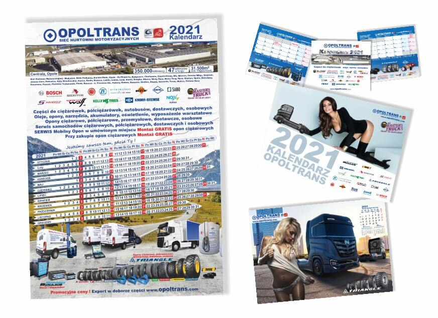 zestawienie kalendarzy OPOLTRANS na 2021 rok