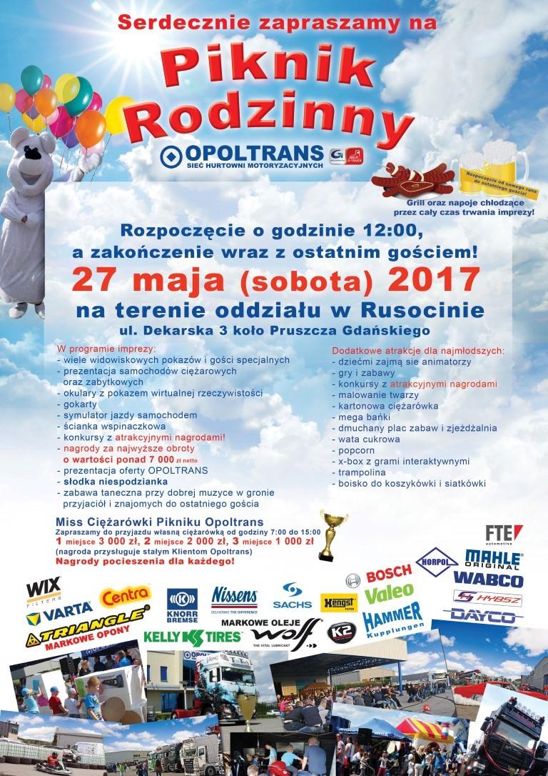 Zaproszenie na Piknik Rodzinny OPOLTRANS w Rusocinie