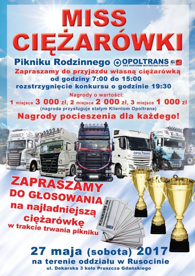 Konkurs na najładniejszą ciężarówkę Pikniku Rodzinnego OPOLTRANS w Rusocinie