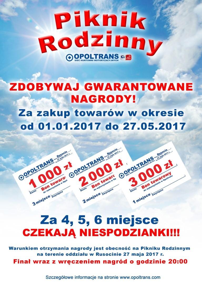 Nagrody dla uczestnikow Pikniku Rodzinnego